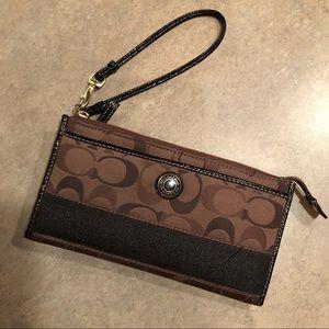Authentic Coach clutch wallet